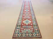 3andrsquo X 18andrsquo.4andrdquo Red Blue Fine Geometric Oriental Rug Runner Handknotted Wool Hallway
