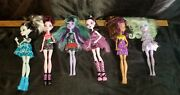 Monster High Doll Lot Of 6 Frankie Draculaura Twyla Claw Deen Fast Shipping