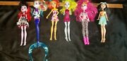 Monster High Doll Lot Of 6 Operetta Lagoona Blue Mermaid Toralei Cleo And More
