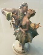 Lorenz Hutschenreuther Kissing Couple Figurine Porcelain Numbered Rare