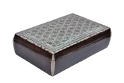 Egyptian Mother Of Pearl Inlaid Jewelry Box Convex Design 14 X 9 Unique 1151