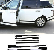 For Range Rover L405 2013-2020 Gloss Black Car Body Door Side Molding Sill Guard