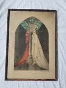 Vintage 1928 Louis Icart Faust Colored Etching Aquatint Artist Signed Limited