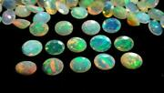 10x12 Mm Natural Ethiopian Opal Faceted - Oval Fire Opal Gemstone - Opal Faceted