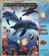 Jigsaw Puzzle Art Of Steve Sundram 1000 Piece Dolphins In Light New In Box
