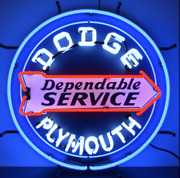 Dodge Dependable Service Neon Sign / Dodge Neon Sign / Dodge Signs / Gas And Oil