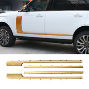 Fit For Range Rover L405 2013-2020 Golden Abs Door Body Side Molding Cover Trim