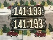 1928 Texas Truck License Plates Restored 141193
