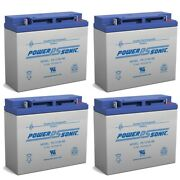 Power-sonic 12v 18ah Sla Battery Replacement For Silent Knight 6914 - 4 Pack