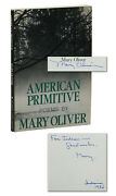 American Primitive Mary Oliver Signed X 2 First Edition 1983 1st Paperback