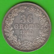 Bremen 36 Grote 1864 Better Than Xf Good Nswleipzig