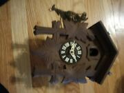 Vintage Antique Large Old Cukoo Clock Parts Only. Sold As Is.