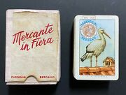 Vintage 1952 Mercante In Fiera Masenghini Bergamo Italy Old Playing Card Game