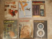 1958 Playboy Magazines Complete Year Rare Find 12 Issues