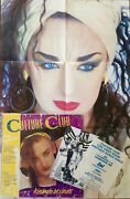 Culture Club Kissing To Be Clever Rare Sample Lp W/ Obi Poster Postcard And Ad