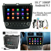 For Honda Accord 2003-2007 Quad-core 10.1and039and039 Android 9.1 Car Stereo Radio Gps Nav