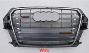 For Audi Q3 2013-2015 Sq3 Style Front Grille Honeycomb Mesh Grill Chrome Black