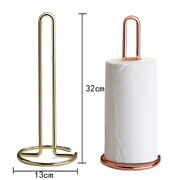 Holder Tables Steel Paper Towel Stand For Kitchen Countertops Bars And Dining