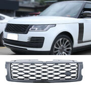 For Range Rover L405 2013-2017 Glossy Black Front Center Mesh Grille Grill Cover