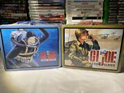 Vintage Mint Sealed Hasbro 1997 Gi Joe Action Soldier Tin Lunch Boxes.
