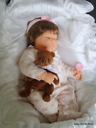 Ooak Berenguer New 20 Custom Made Napping Baby Doll Addilyn Brown Hair Extras