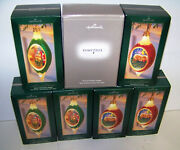 2005 Hallmark 6 Illuminations Ornaments Lot And Powerbox Lot New Mint In Boxes