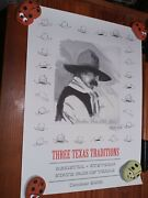 Buck Taylor Under This Old Hat Signed Poster State Fair Of Texas 2000