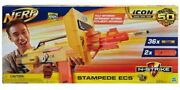 Nerf N-strike Icon Full Auto Stampede Ecs 50 New 36 Darts And 2 Extended Clips
