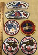 6 Patches, Defunct Robert E. Lee Council, Boy Scouts