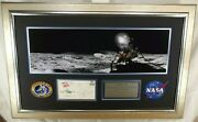 Apollo 14 Crew Signed Framed Display Shepard Roosa And Mitchell Authenticated