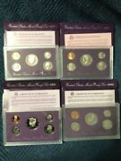 U.s Mint Proof Sets - Lot Of 7 - For Years 1990-1993 And 1995-1997 Incl Coas