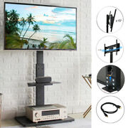 Strong Large Metal Base Swivel Floor Tv Stand Mount For 32-65 Samsung Vizio Lg