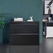 Metal Lateral File Storage Cabinet With Lockable Drawers And Anti-tilt Structure