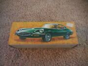 Vintage Avon Jaguar Car Jade Green Glass After Shave Decanter Empty With Box