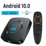Tv Set Top Box Android 10.0 4g 64g Receiver Wifi Bluetooth Play Store 3d Video
