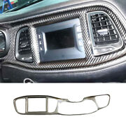 For Dodge Challenger 2015-2020 Carbon Fiber Console Panel Dashboard Cover Trim