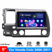 For Honda Civic 2006-2011 Usa Version9 Inch Ips Touchscreen Android 10 Gps Nav