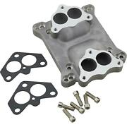 Speedway Motors Dual Stromberg Carbs To 4-barrel Intake Manifold Adapter Plate