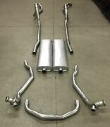 1957 Chevy Dual Exhaust System Aluminized 2 Door And 4 Door Wagon Models Only