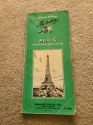 Michelin - Paris France Green Travel Guide Vintage 1964 English Edition