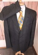 H. Freeman And Sons Wool Gray Red Glen Plaid Suit Menand039s Sz 42l Blazer 36 X 31 Pant