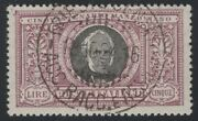 1923 Italy 170 Used, Key High Value, Very Fine W/aps Cert, Scv 3950 Gd 12/1