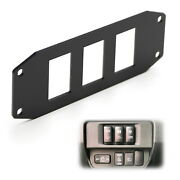 Three Slots Switch Panel Bracket For 2016-up Toyota Tacoma, Fit 39x21mm Switches