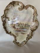 Alton Towers Stoke On Trent Rococo Pottery Wall Plaque 1984 S Fielding And Co