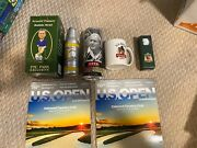 Arnold Palmer - 1 Bobblehead, Can, Bottle, magazines, Coffee Cup And Golf Balls.