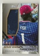 2019 Topps Pro Debut Promo Night Uniforms Relic Frisco Roughriders Patch 12/50