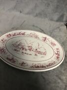 """13"""" Tepco Usa Early California Fort Sutter Platter Restaurant Ware China"""