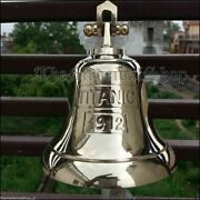 Brass Ships Bell Titanic 1912 5.5 Wall Collectible Clear Ring For Indoor And Out