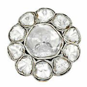 Pave Diamond Gold Victorian Ring 925 Sterling Silver Fine Jewelry Gift Her Se