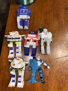 Transformers G1 Prowl Character ++ X6 Eraser Vintage 1985 Hasbro Spindex Lot X6